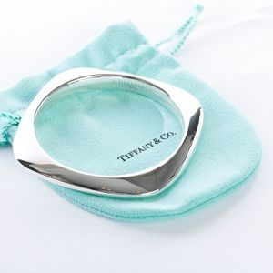Tiffany & Co Sterling Silver Cushion Bangle